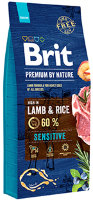 Корм для собак Brit Premium by Nature ягненок